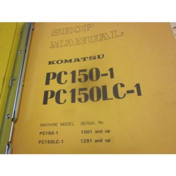 Komatsu Liechtenstein PC150-1 PC150LC-1 Hydraulic Excavator Repair Shop Manual