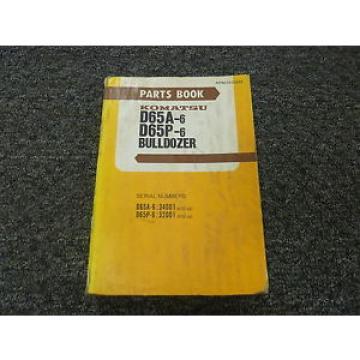 Komatsu Barbados D65A-6 D65P-6 Bulldozer Dozer Parts Catalog Manual