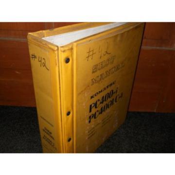 Komatsu Barbuda PC400-1 PC400LC-1 shop manual
