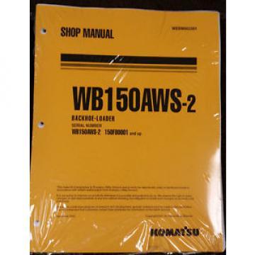 Komatsu Cuinea Service WB150AWS-2 Backhoe Loader Shop Manual