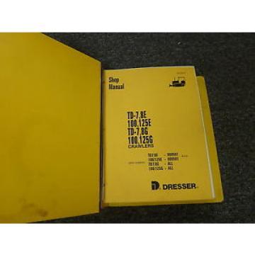 Komatsu Suriname Dresser 100E 125E 100G 125G Crawler Loader Shop Repair Service Manual