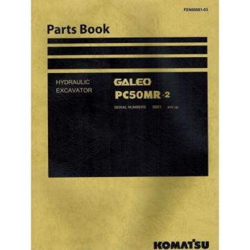 "KOMATSU Moldova, Republic of  GALEO PC50MR-2 HYDRAULIC EXCAVATOR  MANUAL ""NEW"" FEN00081-03"