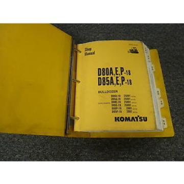 Komatsu Egypt D85E-18 D80P-18 D85P-18 Bulldozer Dozer Shop Service Repair Manual
