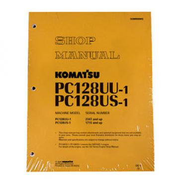 Komatsu Fiji  Service PC128US-1, PC128UU-1 Shop Manual Book