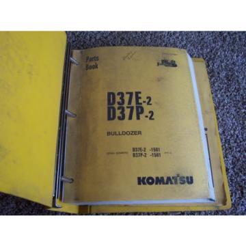 Komatsu Denmark D37E-2 D37P-2 1501- Bulldozer Dozer Factory Parts Catalog Manual Manual
