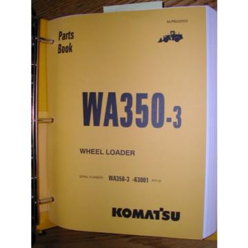 Komatsu Swaziland  WA350-3 PARTS MANUAL BOOK CATALOG WHEEL LOADER MJPB002502 GUIDE LIST
