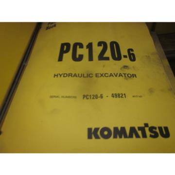 Komatsu Malta  PC120-6 Hydraulic Excavator Parts Book Manual