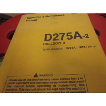 Komatsu Brazil  D275A-2 Bulldozer Operation & Maintenance Manual S/N 10127-