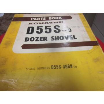 Komatsu Slovenia  D55S-3 Dozer Shovel Parts Book Manual