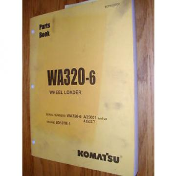 Komatsu Hongkong  WA320-6 PARTS MANUAL BOOK CATALOG WHEEL LOADER BEPB024800 GUIDE LIST