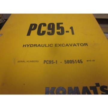 Komatsu Burma PC95-1 Hydraulic Excavator Operation & Maintenance Manual