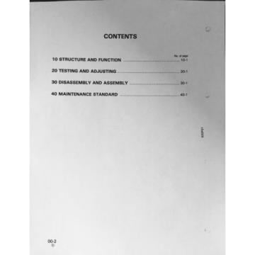 KOMATSU Cuinea PC10-7 PC15-3 PC20-7 Hydraulic Excavator Service Shop Repair Manual Book