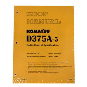 Komatsu Swaziland  D375A-5 Radio-Control Specification Service Printed Manual