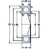 Angular Contact Bearings 71813 CD/P4 SKF