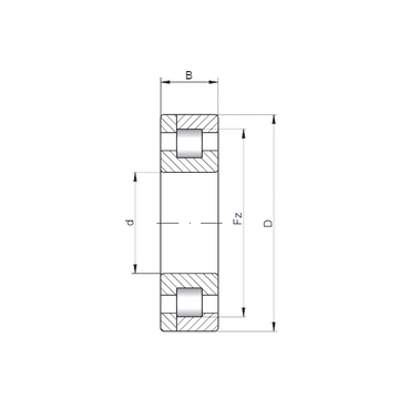 NP3236 ISO Cylindrical Roller Bearings