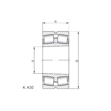 23972 KW33 ISO Spherical Roller Bearings