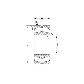 22256-MB-W33 NKE Spherical Roller Bearings