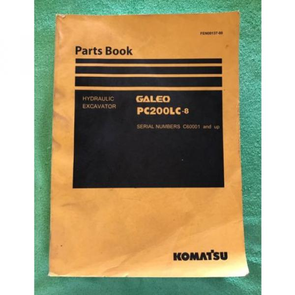 Komatsu Andorra  PC200LC-8 Hydraulic Excavator Parts Book Manual s/n C60001 AND UP & GIFT #1 image