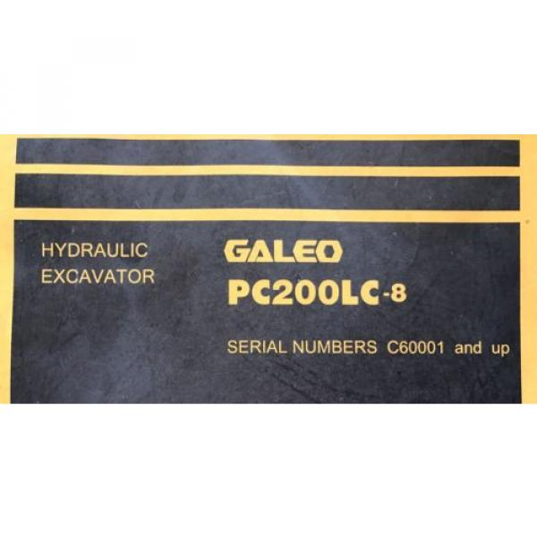 Komatsu Andorra  PC200LC-8 Hydraulic Excavator Parts Book Manual s/n C60001 AND UP & GIFT #2 image