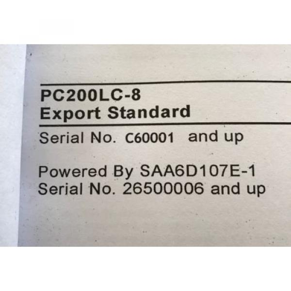 Komatsu Andorra  PC200LC-8 Hydraulic Excavator Parts Book Manual s/n C60001 AND UP & GIFT #3 image