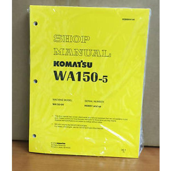 Komatsu Gibraltar WA150-5 Wheel Loader Shop Service Repair Manual #1 image