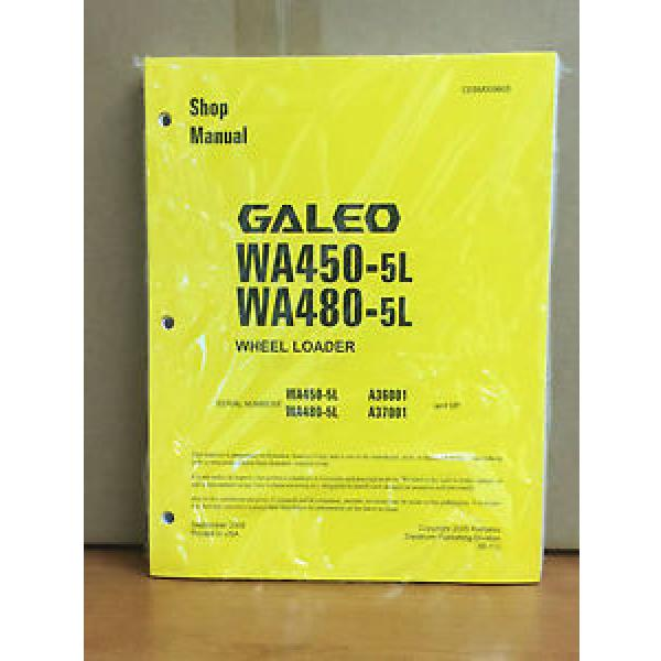 Komatsu Cuba  Galeo WA450-5L, WA480-5L Wheel Loader Shop Service Repair Manual #1 image