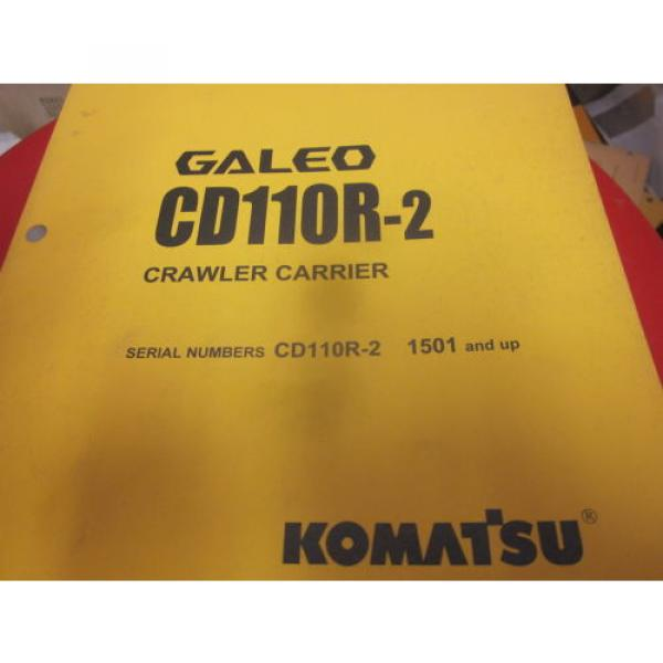 Komatsu Laos  CD110R-2 Crawler Carrier Operation & Maintenance Manual s/n 1501- #1 image