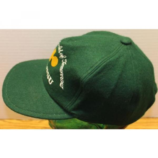 "VINTAGE Guinea  KOMATSU ""SHAPING THE WORLD OF TOMORROW"" GREEN WOOL HAT ZIP STRAP ADJUST #2 image"