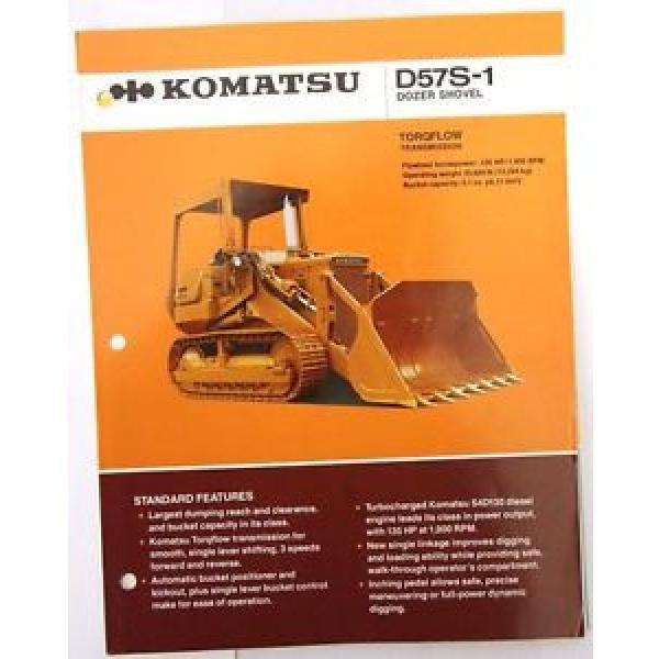 Komatsu SamoaWestern D57S-1 Dozer Shovel Original Sales/specification Brochure #1 image