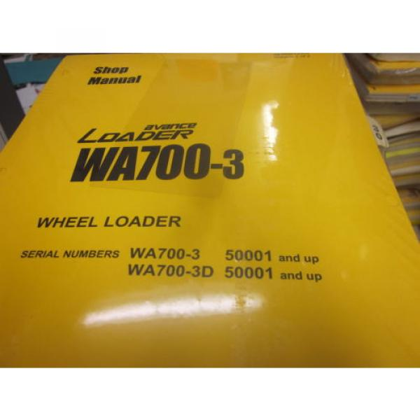 Komatsu Gibraltar  WA700-3 Wheel Loader Repair Shop Manual Vol I & II #1 image