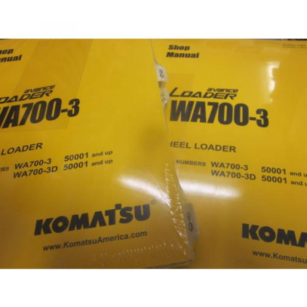 Komatsu Gibraltar  WA700-3 Wheel Loader Repair Shop Manual Vol I & II #2 image