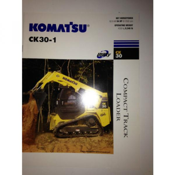 Komatsu Brazil CK30-1 Compact Rubber Tracked Loader , Sales Brochure & specifications. #1 image