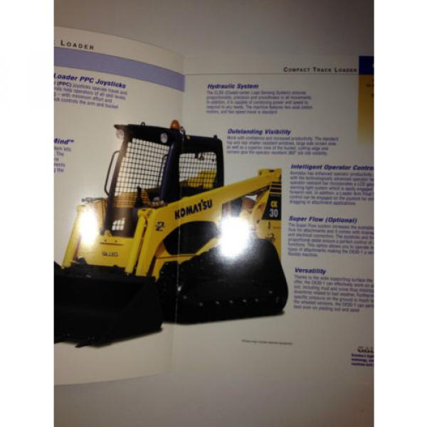 Komatsu Brazil CK30-1 Compact Rubber Tracked Loader , Sales Brochure & specifications. #2 image