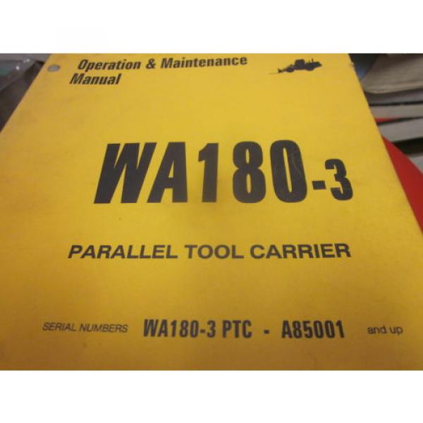 Komatsu United States of America  WA180-3 Tool Carrier Operation & Maintenance Manual S/N A85001 #1 image