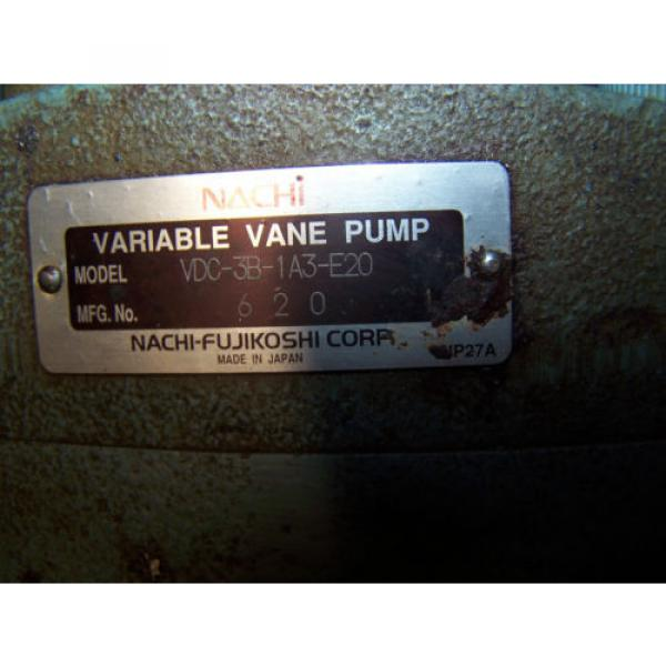 Nachi Saudi Arabia  Variable Vane Hydraulic Pump Model VDC-3B-1A3-E20 #6 image