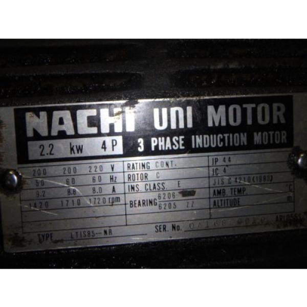 Nachi Grenada Variable Vane Pump Motor_VDR-1B-1A3-1146A_LTIS85-NR_UVD-1A-A3-22-4-1140A #6 image