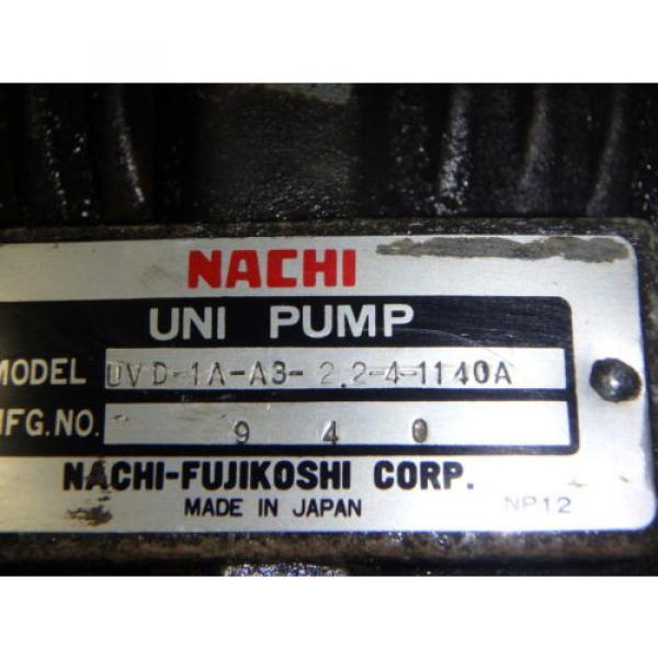 Nachi Grenada Variable Vane Pump Motor_VDR-1B-1A3-1146A_LTIS85-NR_UVD-1A-A3-22-4-1140A #8 image