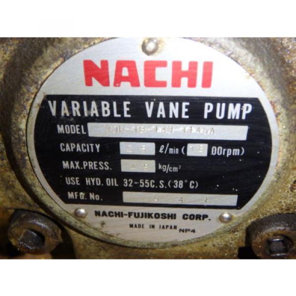 Nachi Grenada Variable Vane Pump Motor_VDR-1B-1A3-1146A_LTIS85-NR_UVD-1A-A3-22-4-1140A #9 image