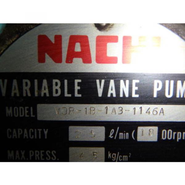 Nachi Grenada Variable Vane Pump Motor_VDR-1B-1A3-1146A_LTIS85-NR_UVD-1A-A3-22-4-1140A #10 image