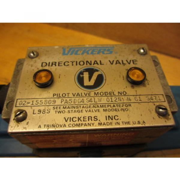 Vickers Netheriands PA5DG4 S4LW 012N H 61, Hydraulic Directional Pilot Valve Coils 24VDC #2 image