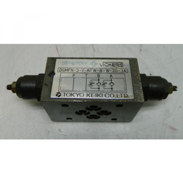Vickers Niger Hydraulic Valve, DGMFN-3-Y-A2W-B2W-20-JA, Used, WARRANTY #1 image