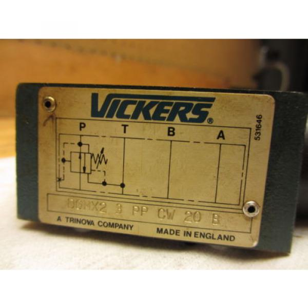 Vickers France DGMX2-3-PP-CW-20-B Hydraulic Valve LOT OF 3 SystemStak Pressure Reducing #3 image