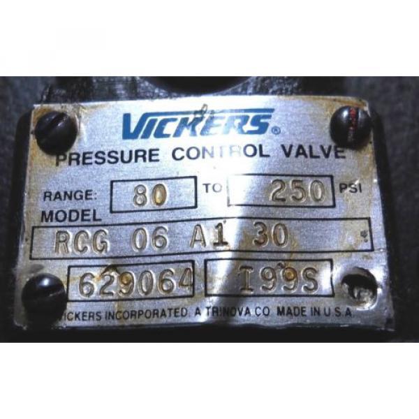 VICKERS CostaRica RCG-06-A1-30 HYDRAULIC PRESSURE CONTROL VALVE 80-250 PSI Origin CONDITION #2 image