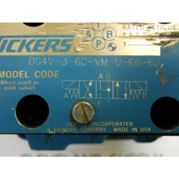 VICKERS United States of America  DG5V 7 8C E V M U B6 30 HYDRAULIC SOLENOID VALVE ASSEMBLY Origin CONDITION #3 image