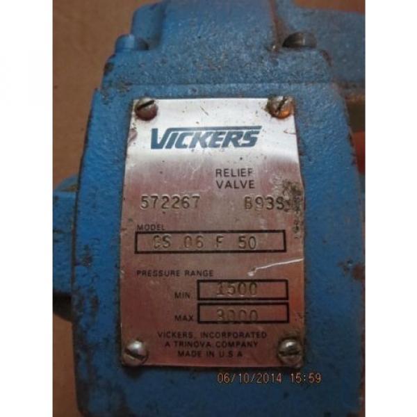Vickers Rep. Relief Valve CS 06 F 50 572267 #2 image