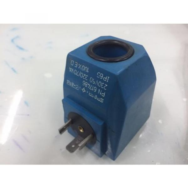 SPERRY Liberia  VICKERS PN 617486 SOLENOID COIL 230V 60HZ for Hydraulic Valves #1 image