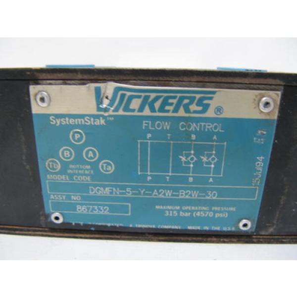 Origin Guyana Vickers SystemStak Flow Control DGMFN-5-Y-A2W-B2W-30  867332 #2 image
