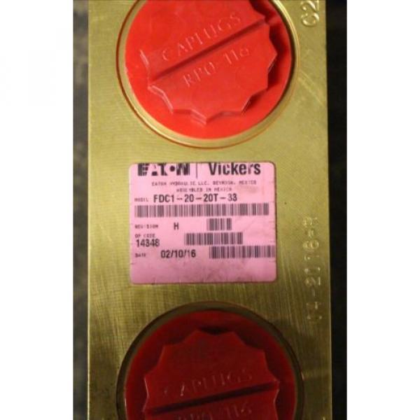 Vickers Barbados hydraulic valve FDC1-20-20T-33 #2 image