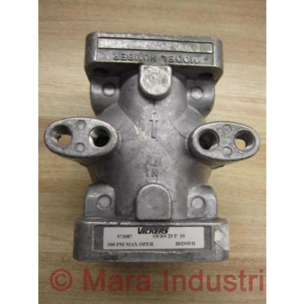 Vickers Rep. 573087 Hydraulic Filter Mount Pack of 3 - Used #2 image