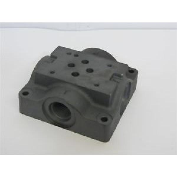 Eaton Rep.  / Vickers 466390, Single Station Hydraulic Sub Plate Cast Iron #1 image